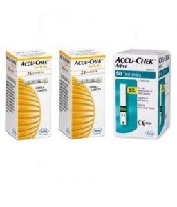 Accu chek Health & Fitness - Active Test Strip 50 Strips With 100 Softclix Lancets