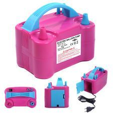 Blocks, Activity Sets - Portable-high-power-two-nozzle-color-air-blower-electric Balloon Inflator Pump