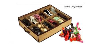 Hard Board Shoe Under Perfect Organiser 12 Pairs Shoes Rack