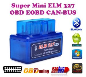 Car Utilities - Gadget Hero''s Mini Elm 327 Bluetooth Eobd 2 Can-bus Obd2 Car Reader Scanner