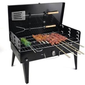 Kitchen Utilities, Appliances - Portable Barbecue Charcoal Grill Briefcase Style Heavy Duty