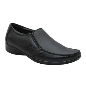 Men's Footwear - Leather King Genuine Leather Black Formal Shoes - (Code -LK-MFS-37-BK)