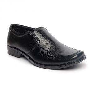 Footwear - Leather Soft Genuine Leather Black Formal Shoes - (Code -LS-RK-04-BK)