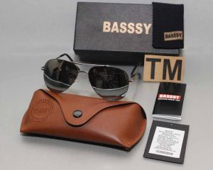 Basssy Grey Aviator Sunglasses