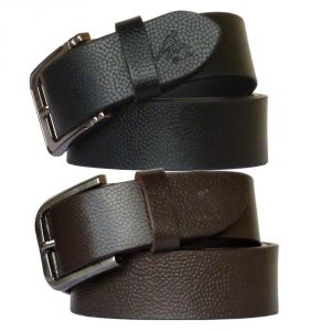 Sondagar Arts Set Of Two Belt Genuine Leather Combo For Men