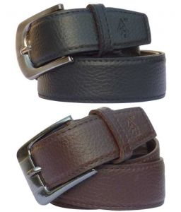Sondagar Arts Black Non Leather Belt, Brown Non Leather Belt For Men Combo