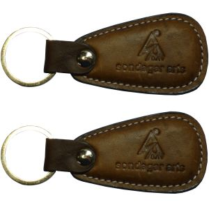 Sondagar Arts Genuine Leather 2 Key Chain Combo Csak12