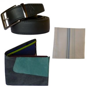 Sondagar Arts Formal Black Belt Wallet Combo Offers For Men