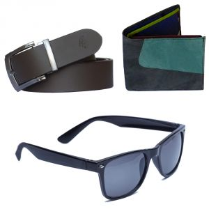 Sondagar Arts Latest Leather Belt Wallet Glares Combo Offers For Men