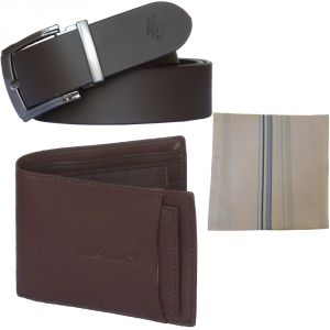 Sondagar Arts Latest Leather Belt Wallet Combo Offers For Men