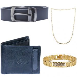 Sondagar Arts Latest  Belts Wallet Chain Bracelet Combo Offers For Men