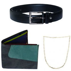 Sondagar Arts Latest Belt Wallet Chain Combo Offers For Men