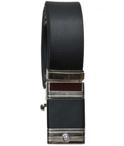 Sondagar Arts Italian Leather Black Mens Belt_sab04