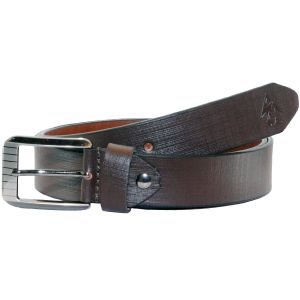 Sondagar Arts Formal Brown Genuine Leather Belt For Mens - Sab162