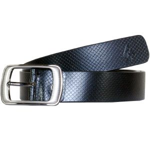 Sondagar Arts Formal Black Genuine Leather Belt For Mens - Sab168