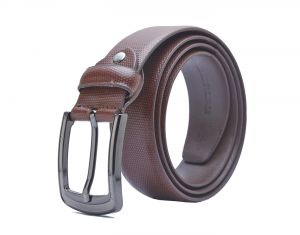 Sondagar Arts Formal Tan Genuine Leather Belt For Mens
