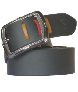 "Sondagar Arts Black Leather Formal Men""s Belt Code-sab91"