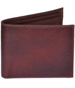 Sondagar Arts Brown Bi Fold Mens Leather Wallet