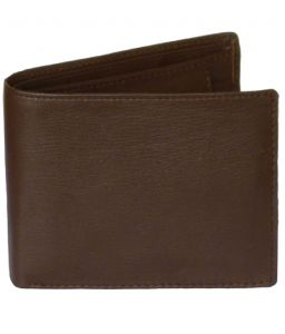 Sondagar Arts Brown Colour Tri Fold Mens Leather Wallet