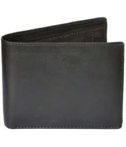 Sondagar Arts Black Colour Tri Fold Mens Leather Wallet