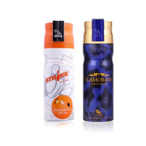 Ekoz Strike And Glamorama Deo Combo For Men (Pack Of 2, 200 Ml Each) (Product Code - DHCOMBO-2)