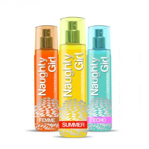 Naughty Girl Femme, Echo And Summer Deodorant Combo For Women (pack Of 3, 135 Ml Each) (product Code - Ndeecosucombo)