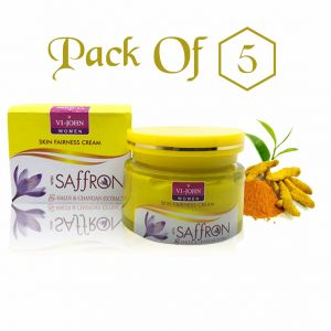 Wow,Gucci,Olay,Globus,Vaseline,Vi John,Jazz Personal Care & Beauty - Saffron Fairness Cream Haldi Chandan  Pack Of 5