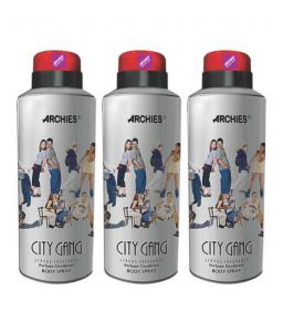 Benetton,Nova,Garnier,Ucb,Kaamastra,Archies,Jazz Personal Care & Beauty - Archies  Deo City Gang (Set of 3)-(Code-VJ582)