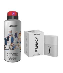 Benetton,Clinique,Gucci,Cameleon,Panasonic,Archies Deodorants - Archies  Deo City Gang & Pefume Privacy-(Code-VJ592)