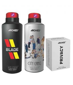 Archies Deo City Gang & Blade + Perfume Privacy-(code-vj612)