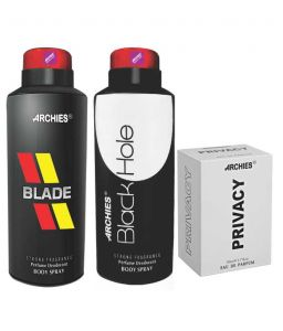 Archies Deo Blade & Black Hole + Perfume Privacy-(code-vj618)