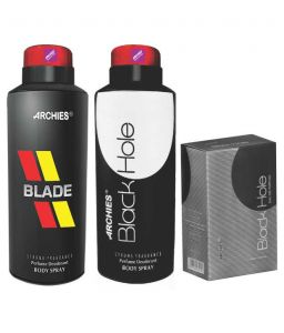 Archies Personal Care & Beauty - Archies  Deo Blade & Black hole+ Perfume Black hole-(Code-VJ647)
