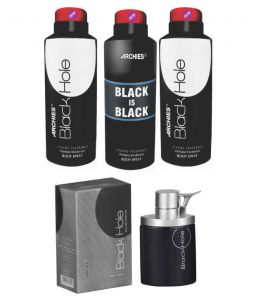 Archies Deo Black Is Bkack & Black Hole & Black Hole + Perfume Black Hole-(code-vj691)