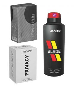 Archies Perfume Black Hole & Privacy & Deo Blade-(code-vj730)