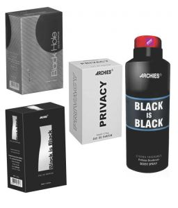 Archies Perfume Black Is Black & Black Hole & Privacy & Deo Black Is Black-(code-vj761)