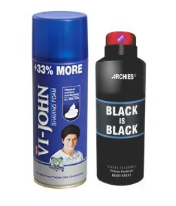 Archies Deo Blade & Vijohn Shave Foam 400gm For All Type Of Skin-(code-vj771)