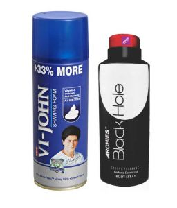 Archies Deo Black Hole & Vijohn Shave Foam 400gm For All Type Of Skin-(code-vj774)