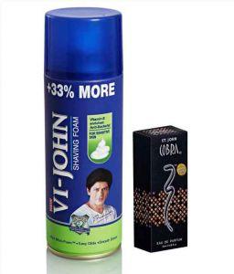 Shaving Creams, Gels - St.John-Vijohn Shave Foam 400GM For All Type of Skin & Cobra Perfume 30ML-(Code-VJ82)