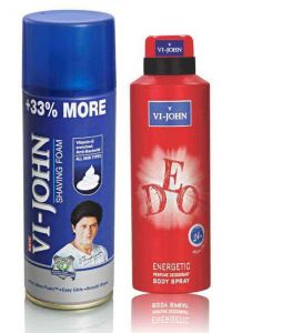 Shaving Creams, Gels - St.John-Vijohn Shave Foam 400GM For All Type of Skin & VIJOHN Deo Energetic-(Code-VJ88)