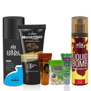Benetton,Wow,Gucci,Globus,Adidas,Brut,Indrani,Vi John Personal Care & Beauty - VI-JOHN Couple Kit- (Code-CK004)