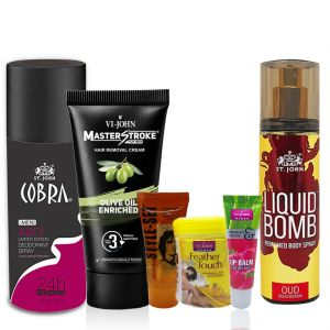 Benetton,Nova,Garnier,Vi John,Maybelline,Indrani,Viviana Personal Care & Beauty - VI-JOHN Couple Kit- (Code-CK005)