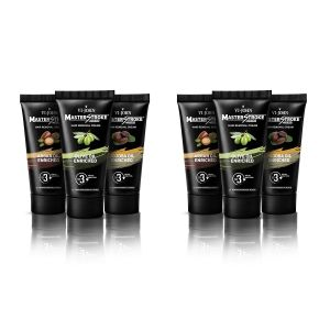 Garnier,Vi John,Neutrogena,Bourjois Personal Care & Beauty - Master Stroke Men Hair Removal Cream Olive/jojoba/Argan Oil 60GM Pack of 6