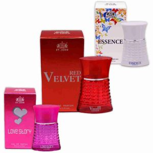 Garnier,Vi John,Nova Perfumes - St.John Perfume Set 30ml - Love Story, RED VELVET & ESSENCE ( pack of 3)