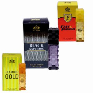 St.john Perfume Set 30ml - Glamour Gold, Black Sapphire & Fast Furious ( Pack Of 3)
