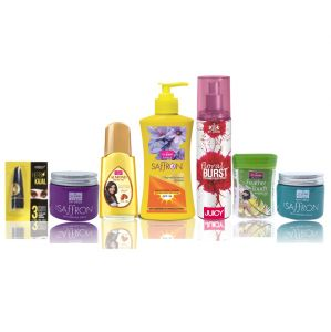 Benetton,Vi John,Bourjois,Himalaya Skin Care - Travel Kit For Women (Hair Remover Lime & Saffron Day/Night Fairness Cream & SunScreen Body Lotion & Almond hair Oil & Deo Floral Brust Juicy & Kajal)