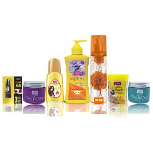Travel Kit For Women(hair Remover Haldi Chandna & Saffron Day/night Fairness Cream & Sunscreen Body Lotion & Almond Hair Oil Deo Gold Edition & Kajal