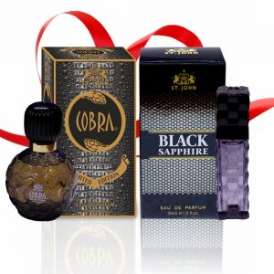 Garnier,Vi John,Rasasi Perfumes - Couple Perfume Gift Set Cobra 60ml, BLACK SAPPHIRE (PACK 2)