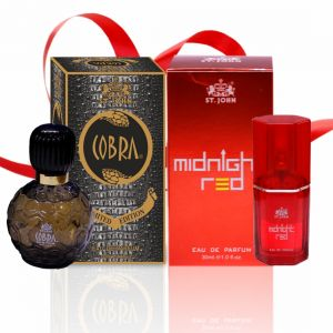 Couple Perfume Gift Set Cobra 60ml , Midnight Red (pack 3)