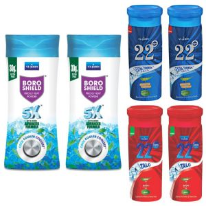 Garnier,Vi John,Maybelline,Dior,Head & Shoulders,Calvin Klein,Viviana Personal Care & Beauty - Combs of Tacl 22 DEGREE GULAB, BOROSHIELD, 22 DEGREE EXTRA THHANDA PACK OF 6
