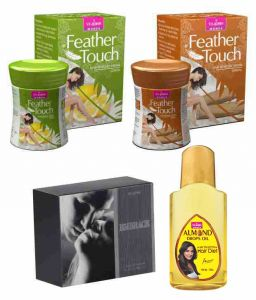 St.john-vijohn Feather Touch Hair Removal Cream (lime & Sandal) 40gm & Perfume Embrace 50ml & Almond Hair Oil 50ml-(code-vj481)